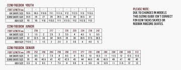 Reebok Hockey Skates Size Chart Chart Ccm Skate Size Related Keywords Suggestions Chart