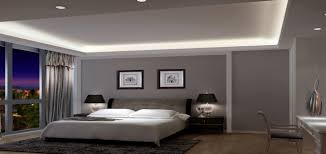 Appealinglightgraywallinsideretrobedroomwithstriped - Modern retro bedroom
