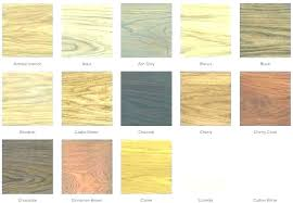 Wood Furniture Stain Color Chart Pine Wood Stain Colors Lebrakon