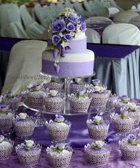 9 Purple Wedding Cake And Cupcakes Photo Purple Wedding Cake And