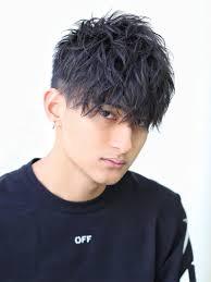 ジャイロ質感刈り上げジャイロマッシュメンズ髪型 Lipps