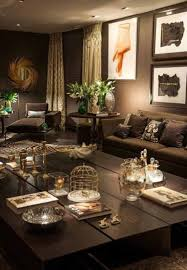 subdued lighting. Living Room - Again, I Love The Brown, Gold, And Brass Colour Scheme Subdued Lighting
