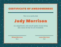 Certificates Funny Customize 46 Funny Certificate Templates Online Canva