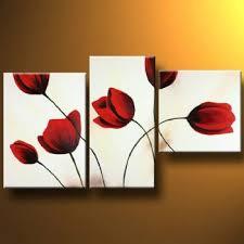 >red tulips i modern canvas art wall decor floral oil painting wall  red tulips i modern canvas art wall decor floral oil painting wall art with