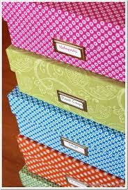 Storage Boxes Decorative Fabric One Yard Décor Fabric Covered Boxes Collecting printer paper 26