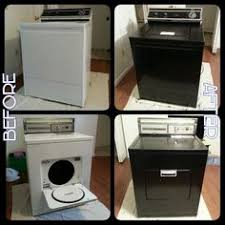 black washer and dryer. Weekend Project: Paint Our Washer \u0026 Dryer! These Old 60\u0027s Model Appliances Didn\u0027 Black And Dryer