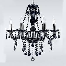 simple black chandelier modern simple led crystal delier ceiling pendant black deliers home light fixtures arms