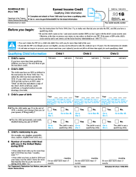 Eic Tax Chart 2018 2013 Form Irs 1040 Schedule Eic Fill Online Printable