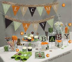 Image of: Decorations Camo Ba Shower Decorations Ba Q Shower Ideas In Baby  Shower Decoration