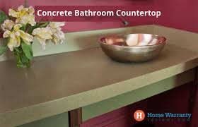 concrete bathroom countertops