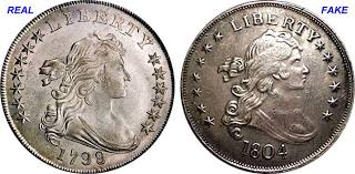 Coin Value Us Fake Silver Dollar Counterfeit 1799 To 1804