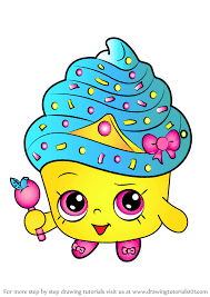 Learn How To Draw Cupcake Queen From Shopkins Shopkins Step By