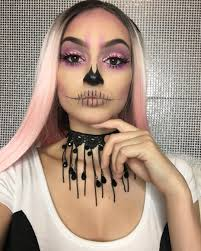 y makeup looks that are creepy yet cute pretty wallpaper skull make up for women