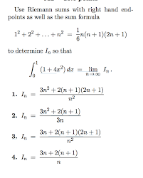 Endpoint Formula Get Answer Use Riemann Sums With Right Hand Endpoints As
