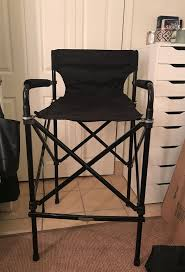 makeup artist tall directors chair folding w carrying bag chicago il
