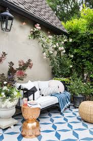 Outdoor patio ideas Covered Patio From a Beautiful Mess This Is One Of The Best Diy Outdoor Patio Ideas We Have Seen what An Impact This Painted Patio Tile Diy Is The Perfect Solution The Garden Glove 15 Amazing Outdoor Patio Ideas The Garden Glove