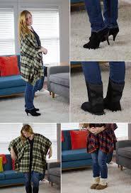 flannel poncho tutorial