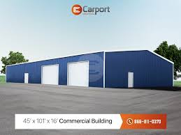 Auto Shop Building Designs 45 X 101 Vertical Roof Commercial Workshop Building Metal