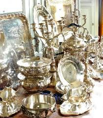 Pin by Priscilla Mills on COLOR: SILVER | Silver decor, Silver tea, Silver  trays