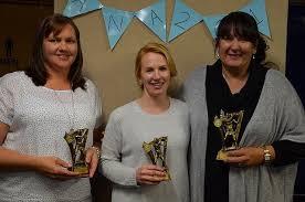 C Grade, right, Tammy Bastian, 21 votes. Runners up, left Benita Palmer &  Emma Gulin on 19 votes | Plains Producer