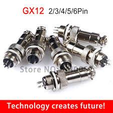 <b>10pcs GX12 Aviation</b> Circular Connector 2 Pin 3pin 4pin 5pin 6pin ...