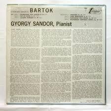 Bartok : roumanian folk dances / out of doors by Gyorgy Sandor, LP ...
