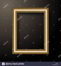 Black Light Frame Golden Photo Frame Template Home Decoration And Interior
