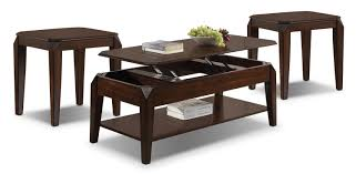 docila lift top coffee table and two end tables espresso leons