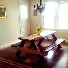 stupendous indoor kitchen picnic table photo design