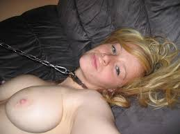 Amateur Shaved Blonde Girlfriend with Pierced Pussy Wearing.