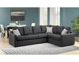 Leons Furniture Kitchener Athina 2 Piece Left Facing Queen Sofa Bed Sectional Charcoal