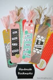 Design Handmade Bookmarks Diy Handmade Bookmarks Tatertots And Jello