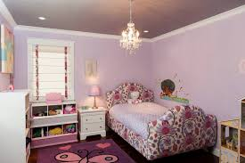 girl s lavender bedroom with chandelier