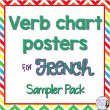 French Verb Chart Posters Sampler Irregular Verbs French