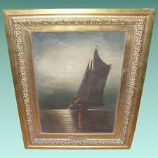 oil on canvas moonlight on long island robbia antiques ruby lane