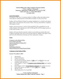 Resume Sample For Doctors Medical Billing Resume Sample New Entry Level Medical Billing And 59
