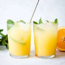 orange and coconut water refresher 5