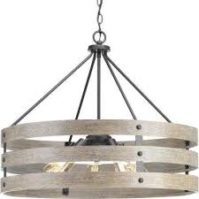 Drum pendant lighting fixtures Chrome Gulliver 5light Graphite Drum Pendant With Weathered Gray Wood Accents The Home Depot Drum No Shade Pendant Lights Lighting The Home Depot