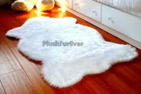 3 x 5 white faux fur rug single sheepskin rug fake animal skin
