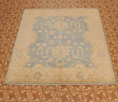 8x8 foot square rugs pastel blue pale gold fine rug hand knotted carpet l