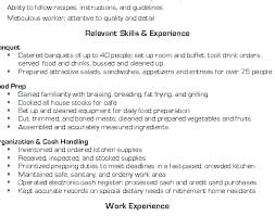 Resume For Cooks Mesmerizing Prep Cook Skills Kenicandlecomfortzone