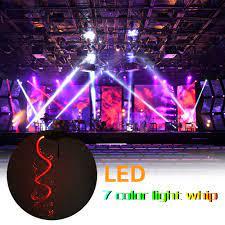7 Màu Đèn LED Sợi Ánh Sáng Roi Múa Roi 3 W Sợi Quang Đèn Pin Cho KTV Bên Đèn  Cho Thấy Nhạc EDM lễ Hội|Optic Fiber Lights