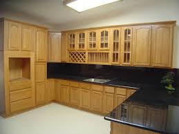Kitchen Wooden Furniture Unique Pattern Backsplash Oak Cabinet Small U Shaped Design Fancy