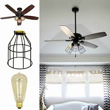 edison bulb ceiling fan. 42 Inch Ceiling Fan With Light Lovely Diy Makeover Add Cage Bulb Guards And Edison N