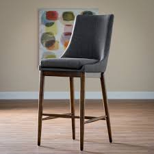 Belham Living Carter Mid-Century Modern Upholstered Bar-Height Stool |  Hayneedle