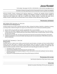 Sub Mortgage Broker Cover Letter Mortgage Broker Resume Example