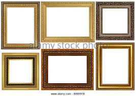 white antique picture frames. Antique Frames Collection Isolated On White Background - Stock Image Picture