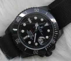 rolex submariner black ceramic bezel nylon strap pro hunter rolex submariner black ceramic bezel nylon strap mens watch 2 th jpg