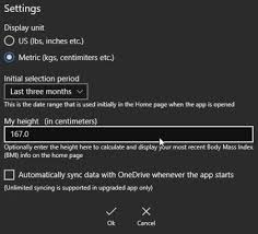 Windows 10 Weight Tracking App To Log Track Weight Changes
