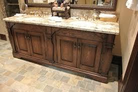 bathroom vanities lights. Rustic Bathroom Vanity Lights Dark Wood Black Faucet Dual Lever Handle Wall Sconces Brown Marble Tiles Floor Mosaic Tile Vanities